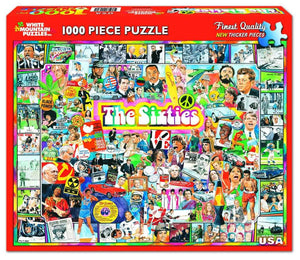 White Mountain The Sixties 1000 pc Puzzle