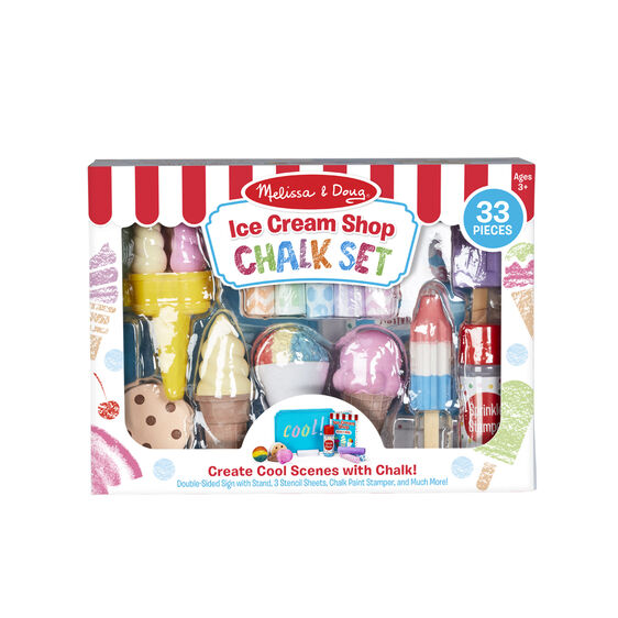 Melissa & Doug Ice Cream Chalk Set, 33 Pieces