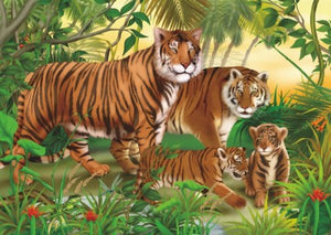Springbok Kids Puzzle by Heidi Art Tigers 240 pc Puzzle-COMING SOON
