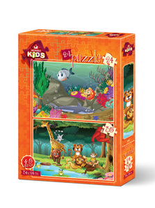 Springbok 2 in 1 Kids Puzzles by Heidi Arts Underwater and Forest Animals-COMING SOON