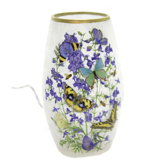 Stony Creek Butterfly & Lavender Lighted Small Vase