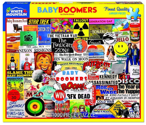 White Mountain Baby Boomer 1000 Piece Puzzles