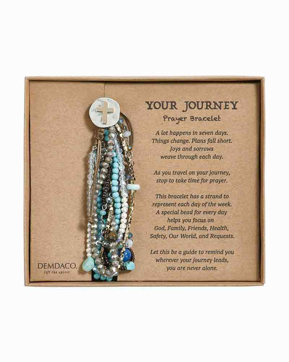 Demdaco Your Journey Prayer Bracelet Turq
