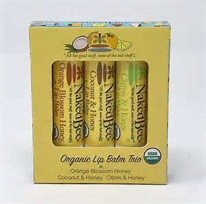 Naked Bee Organic Lip Balm Trio Gift Set
