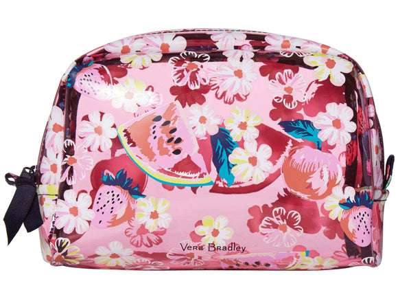 Vera Bradley Beach Cosmetic Bag Rosy Garden