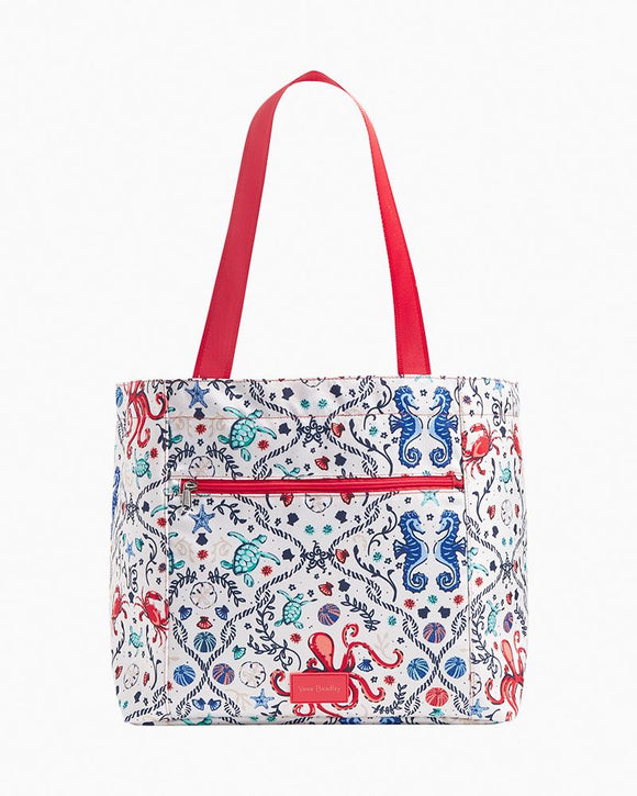Vera Bradley Reactive Draw String Tote Sea Life