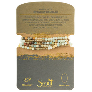Scout Courage Amazonite Stone Bracelet