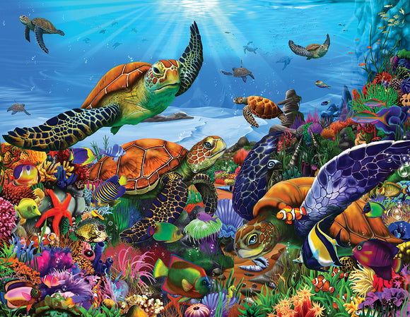 White Mountain Amazing Turtles Seek and Find 300 pc Puzzle