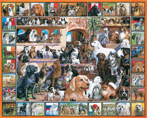 White Mountain The World of Dogs 1000 pc puzzle