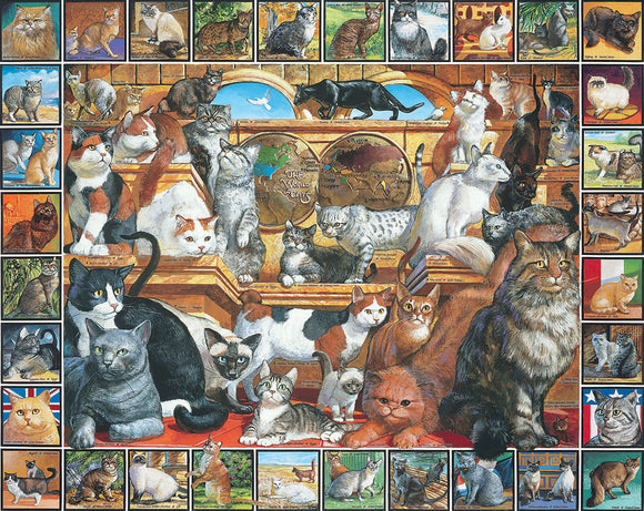 White Mountain The World of Cats 1000 pc Puzzle