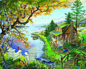 White Mountain By the Lake 1000pc Puzzle