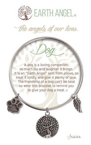 Earth Angel Dog Silver Bracelet