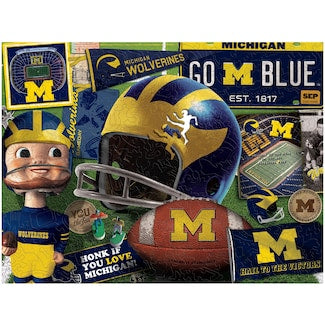 Michigan Wolverines Retro 550 pc Puzzle