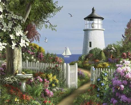 White Mountain To The Lighthouse 1000 pc Puzzle-