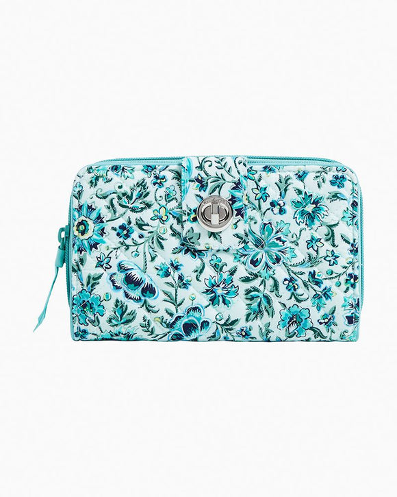 Vera Bradley RFID Turnlock Wallet In Cloud Vine