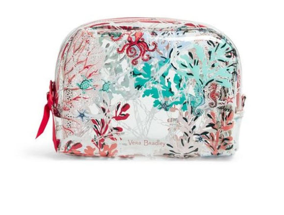 Vera Bradley Beach Cosmetic Bag In Sea Life