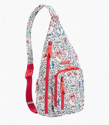 Vera Bradley Iconic Sling Backpack In Sea Life