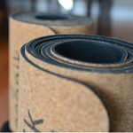 Cork and natural rubber yoga mat