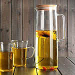 Glass Carafe with Stainless Steel/Bamboo/Glass Lid