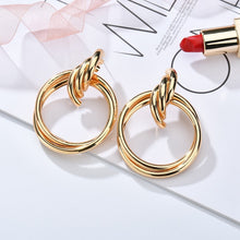Load image into Gallery viewer, Bold Golden Twisted Hoops