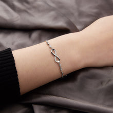 Load image into Gallery viewer, Chiq Infinity Silver Adjustable Crystal Bracelet