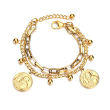Load image into Gallery viewer, Abundance Golden Coin Bracelet