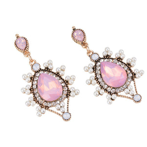 Bohemian Pink Heaven Long drop Earrings