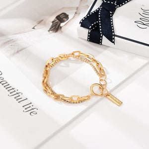 Bohemian Golden Combination Crystal Bracelet