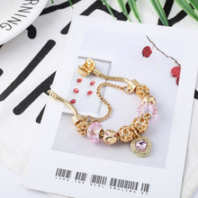 Load image into Gallery viewer, Bohemian Pink Charm Bracelet