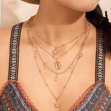 Load image into Gallery viewer, Bohemian Layered Necklace Gold