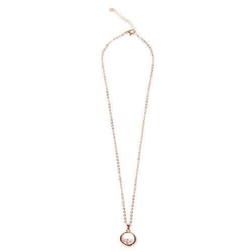 Minimal Rose Gold Necklace with Pendant