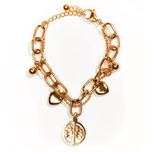 Load image into Gallery viewer, Abundance Golden Charm Bracelet