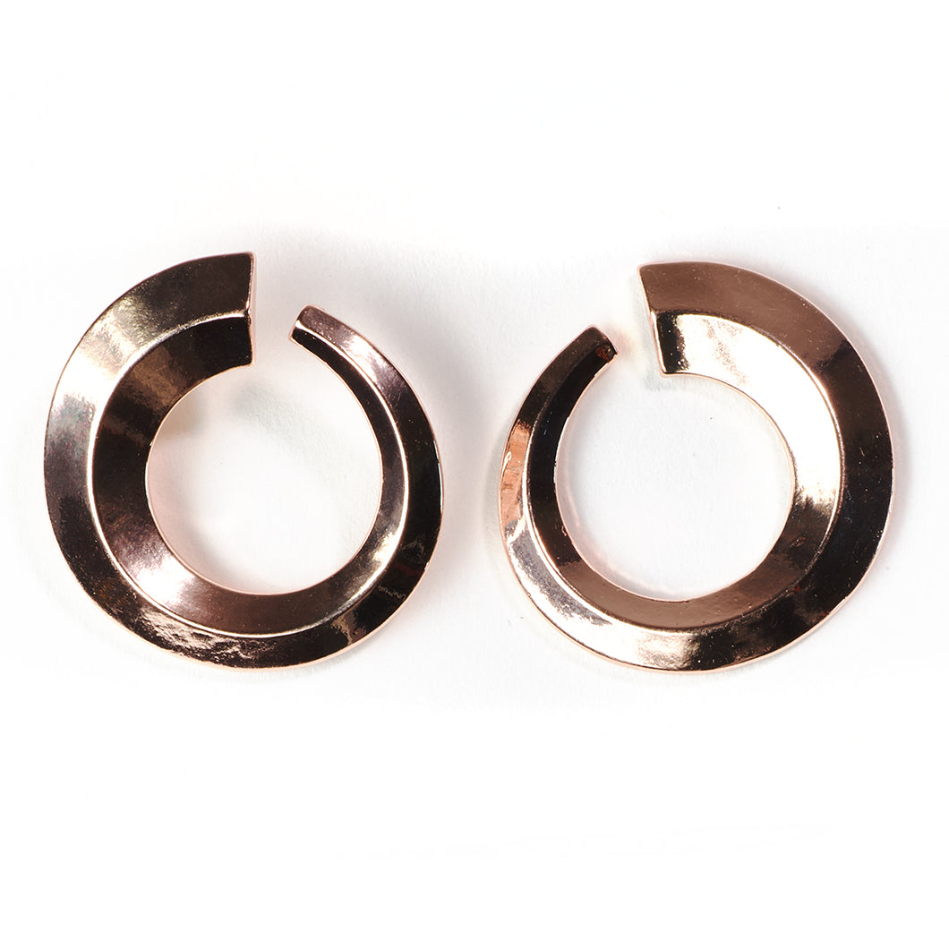 Bold Rose Gold Seventies Earrings