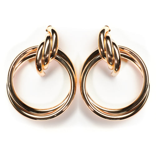 Bold Golden Twisted Hoops