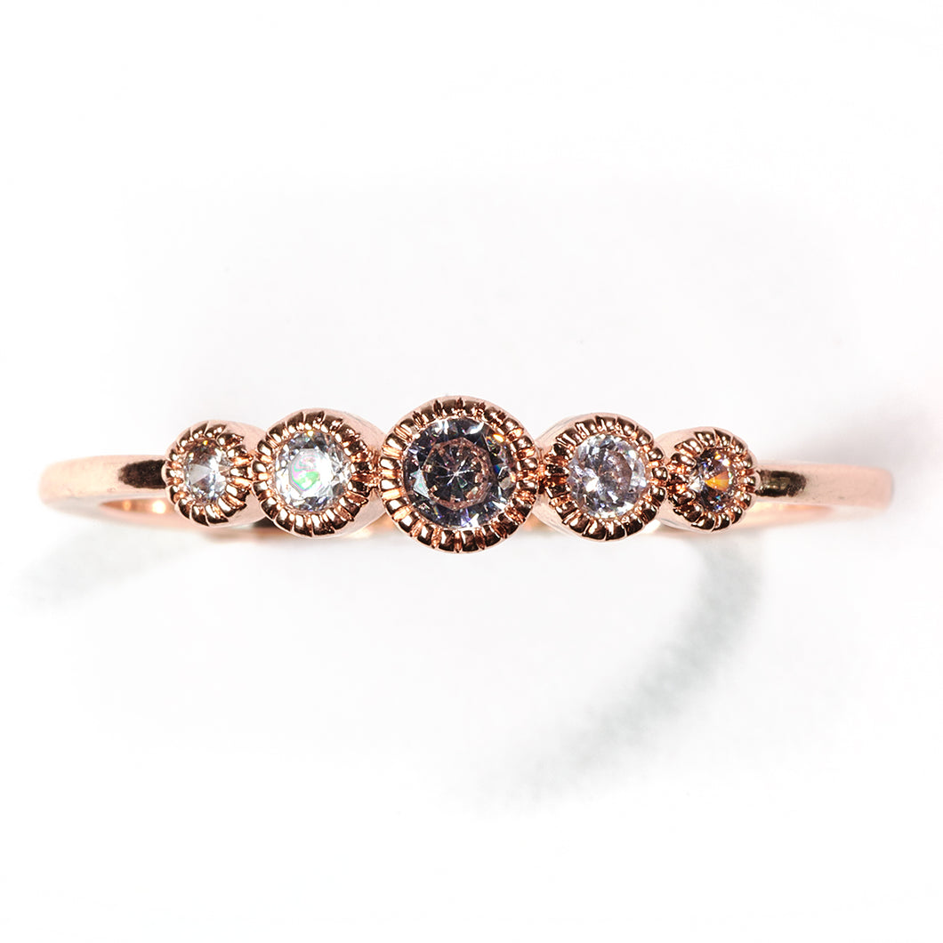 Chic Rose Gold Crystal Ring