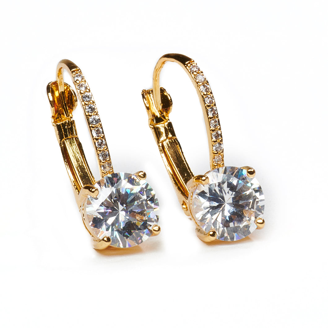 Chic Crystal Gold Earrings