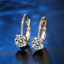 Load image into Gallery viewer, Chic Crystal Gold Earrings