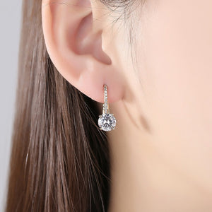 Chic Crystal Silver Earrings