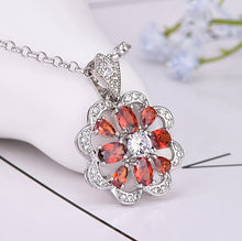 Load image into Gallery viewer, Abundance Sparkle Ruby Pendant Necklace