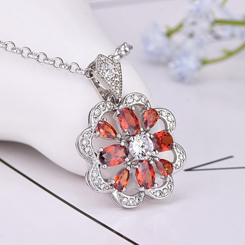 Abundance Sparkle Ruby Pendant Necklace