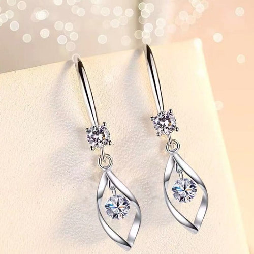 Chic Mid-drop Sparkle Earrings