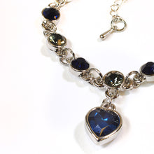 Load image into Gallery viewer, Chic Silver Bracelet with Blue Coloured Stones