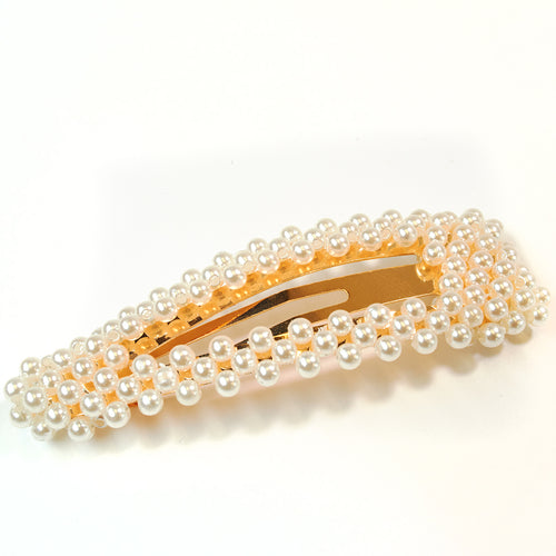 Chic Pearly Hair Clip Gold