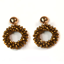 Load image into Gallery viewer, Bohemian Golden Beaded Earrings