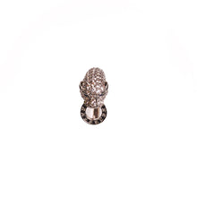Load image into Gallery viewer, Bold Silver Cheetah Chunk Ring
