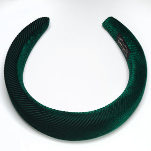 Jules Padded Headbands Off Chic Green