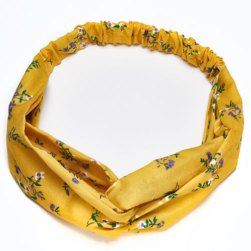 Aurelie Knot Headband Yellow Spring