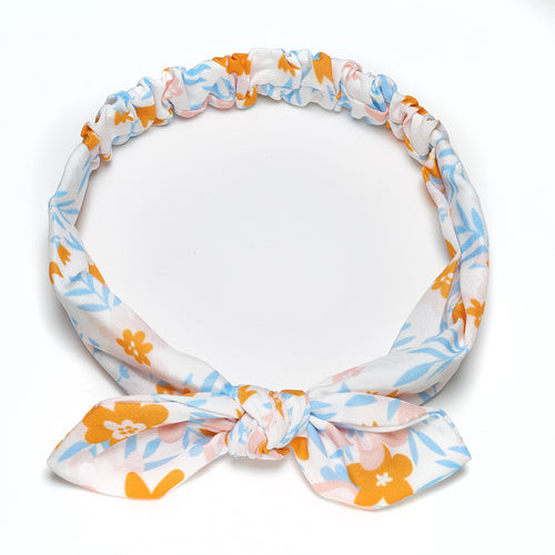 Aurelie Bow Headband Blue Junior