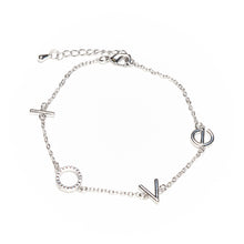 Load image into Gallery viewer, Abundance Silver LOVE Crystal Bracelet