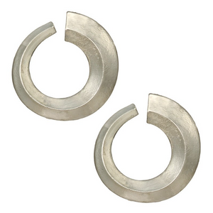 Bold Silver Seventies Earrings